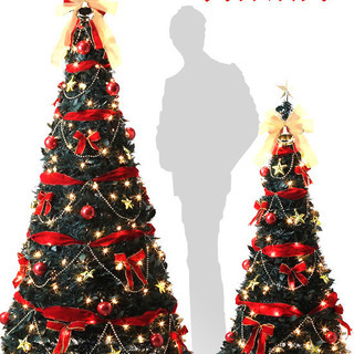 特大吊り下げ式コーン型クリスマスツリーセット
