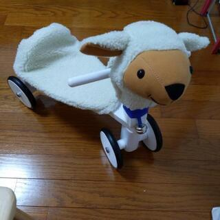 ボーネルンド ラムドライブ ひつじ 三輪車 室内乗用玩具 木製 羊