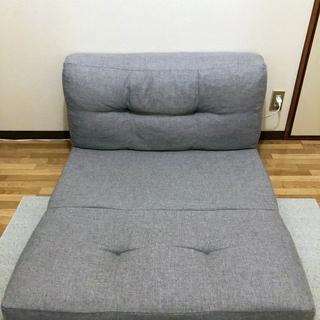 リクライニングローソファ 折りたたみベッド - 家具