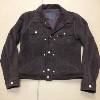 牛革スエードジャケットMサイズ 《中古品》