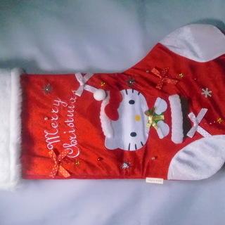 クリスマスハロー キティープレゼント靴下