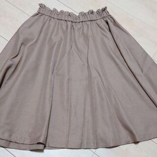 ☆クチュールブローチ☆ ギャザースカート キャメル