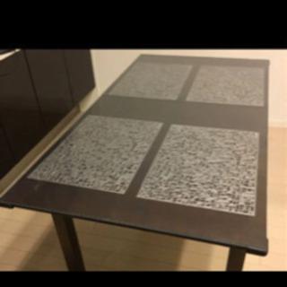 ダイニングテーブルセット(カバー、椅子、小物付き)
