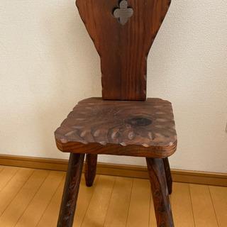 木製 飾りチェア インテリア