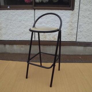 ハイチェア/脚が高めの椅子/高さ87cm JM4337)【取りに...