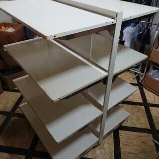 店舗用什器 陳列棚 業務用 調節可能 両面 スチール棚