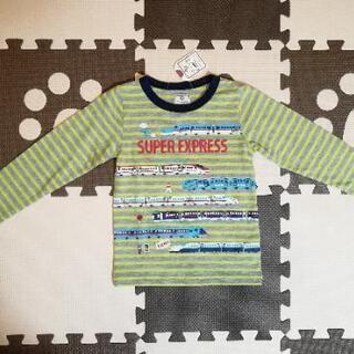 新品 長袖 新幹線ボーダーTシャツ ロンティ 97cm 男の子