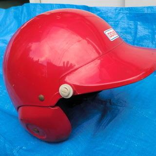 バイク用赤いヘルメットとゴーグル譲ります