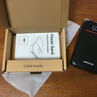 新品未使用 モバイルバッテリー 10000mAh 軽量 LCD残...
