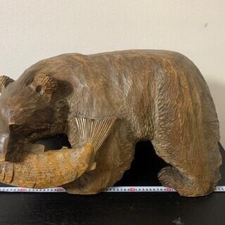 ★高級 木彫り熊 木彫り熊大 約70㎝×38㎝ ★