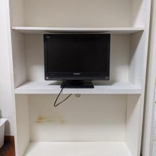 子供用収納棚 + テレビ付き (ニトリ食器棚の改造品)