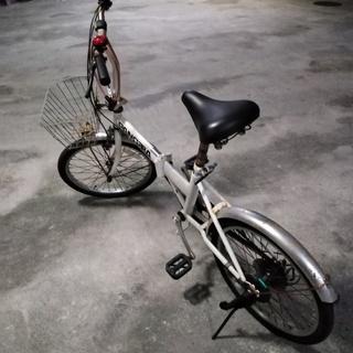 中古 折り畳み自転車&空気入れ