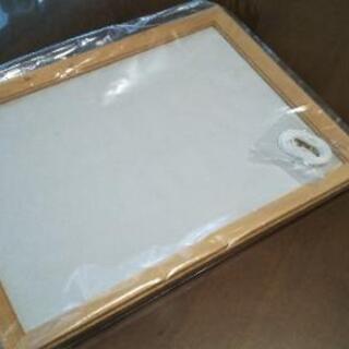 【未開封】白木の額縁 外寸cm 40 × 29