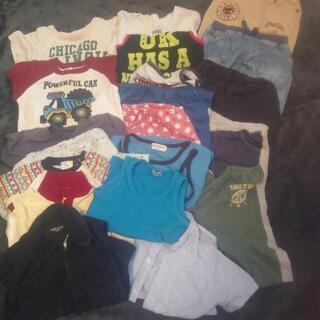 子ども服23枚!70~90センチあたりが主。たくさん着替えが欲し...