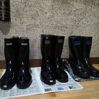 メンズ 黒長靴 26㎝  28㎝ 各800円