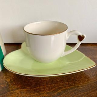 【やや美品】ジュテームのハートコーヒーカップ2点セット