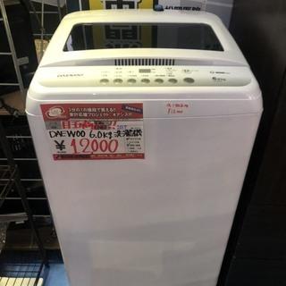 ☆中古 激安!! DAEWOO 電気洗濯機 6kg DW-E60...