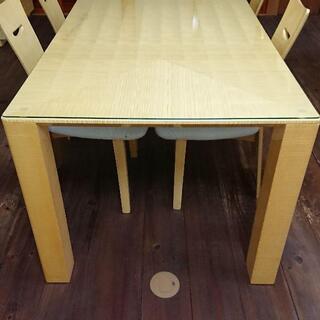 シカモア家具セット 食卓用テーブル、食器棚、センターテーブル、テ...
