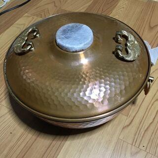 純銅製 しゃぶしゃぶ 鍋 未使用 両手 卓上