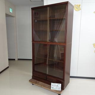 ガラス引戸本棚(R110-46)