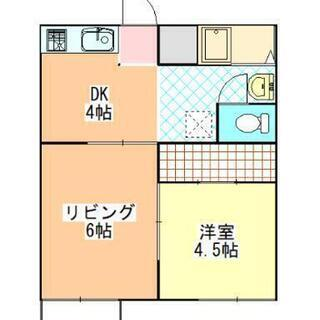 初期費用5,000円 使いやすい1LDKアパートです。