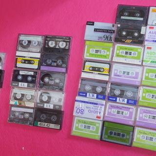 使用済み カセットテープ 34本
