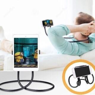 【新品・未使用】多機能 首掛け式 タブレット スタンド 携帯電話...
