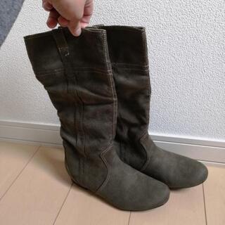 値下げしまーす🎵スエード調のブーツ