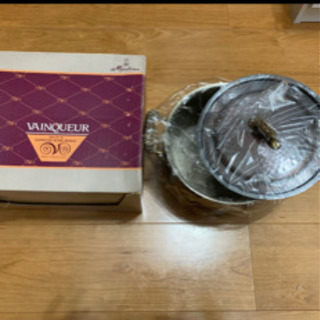 (未使用)純銅製煮込み鍋20センチ