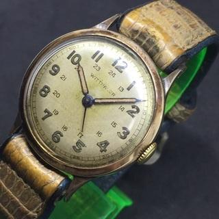 ウィットナー社 スイス製 14K 14金無垢 アンティーク手巻き時計