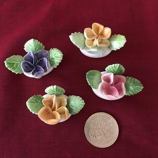 ㉕【陶器製 カードスタンド】昭和アンティーク