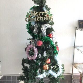 最終処分! 500円 クリスマスツリー 高さ175cm 飾り付き