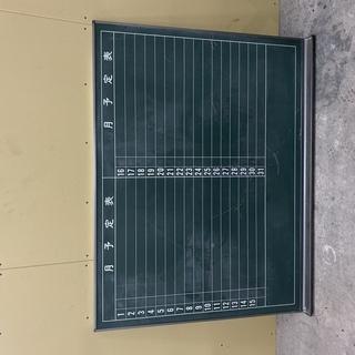 Z086 【良品】 黒板 予定表 事務所用品 幅120 高さ90㎝