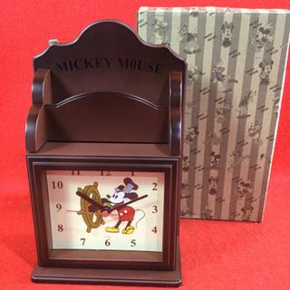 ミッキーマウス キーボックス 時計 未使用 長期保管