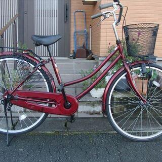 中古自転車 26インチ ママチャリ 新品部品はカゴ、ブレーキワイ...