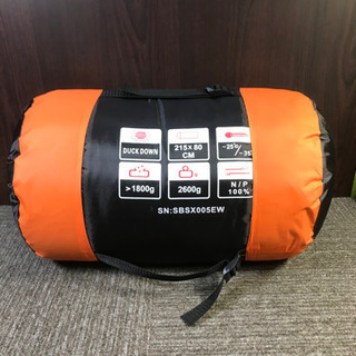 未使用品!SAMCAMEL 寝袋 冬用 封筒型シュラフ オレンジ