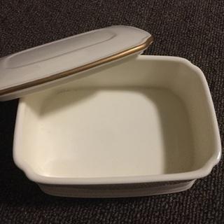 【未使用】Noritake バターケース ボーンチャイナ