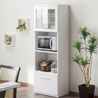 ニトリ 美品 食器棚 レンジボード キッチンボード ホワイト 白