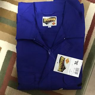 HIGHPARM 作業着 青いつなぎ 長袖 サイズ3L