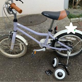 コーダブルーム 自転車 ラベンダー 16インチ 補助輪付