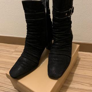 レディース黒ブーツ(アクアグリッパー)