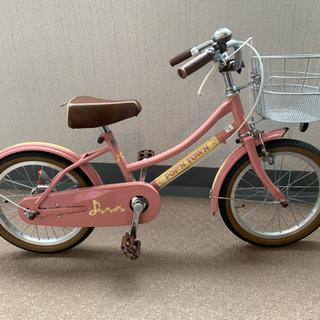 16インチ 子供自転車 女の子  【別売りでヘルメット有】