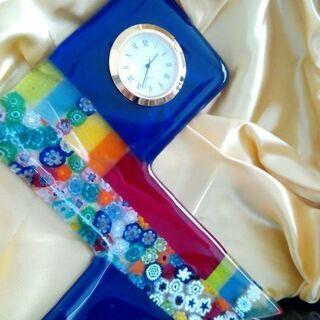 ミルフィオリグラス 置き時計