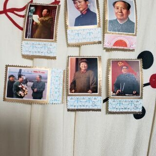 中国切手 毛沢東死去1年 6種