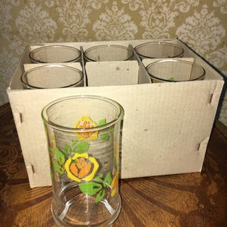 レトロ アデリアグラス コップ アリス 6個セット