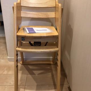 KATOJI木製ハイチェア(ナチュラル)ベビーチェア/キッズチェア