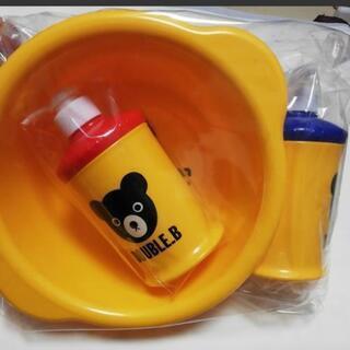 新品Mikihouse ミキハウス日本製 ソープボトル&桶3点セット