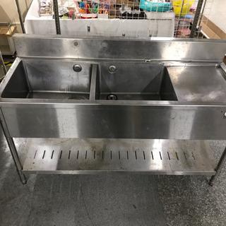 タニコー 業務用厨房機器 2槽シンク流し/作業台