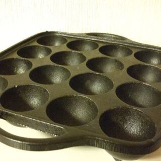 鉄鋳物製  たこ焼き器 16穴(カセットコンロ用)