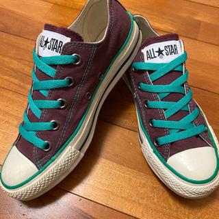 brown &greenコンバース22.5cm